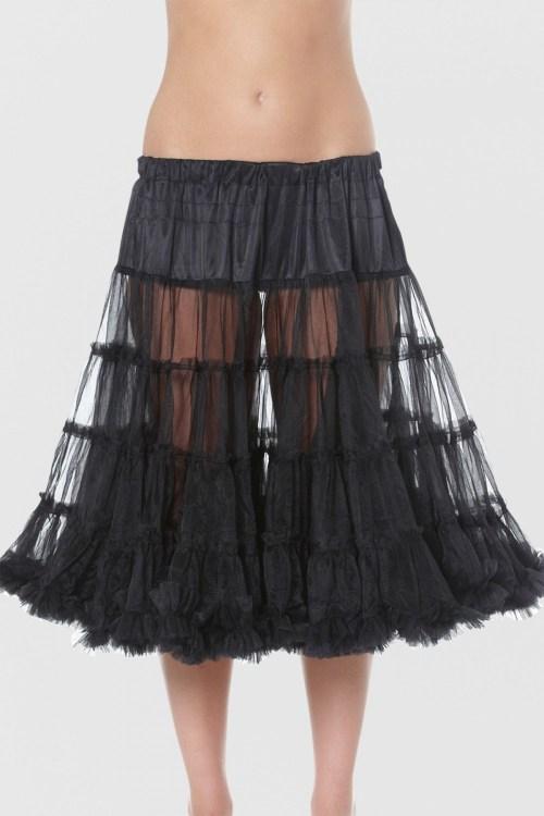 Petticoat schwarz 60cm