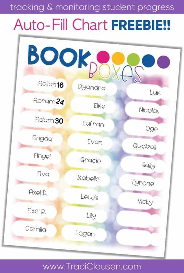 Auto Fill Book Boxes