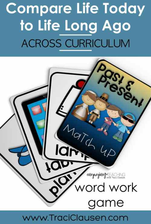 past and present word work cards