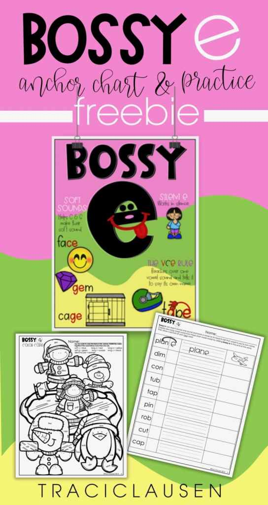 BOSSY E poster and activities