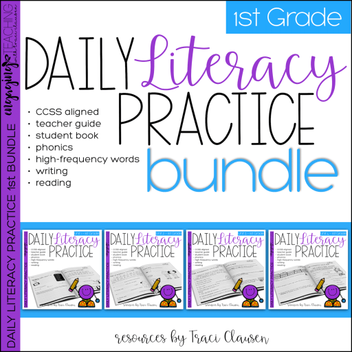 Daily Literacy Practice product cover