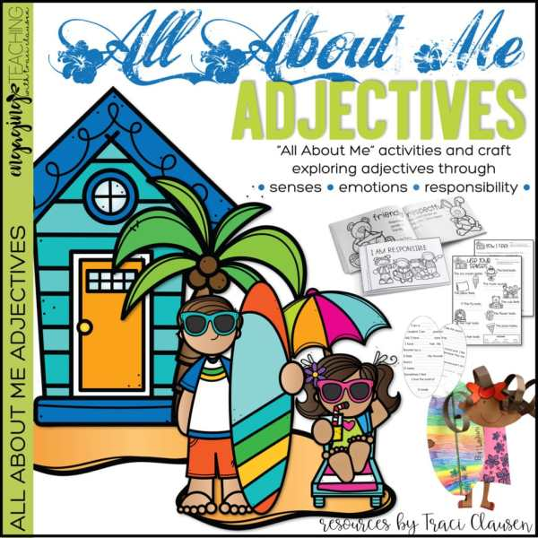 All About Me Adjectives