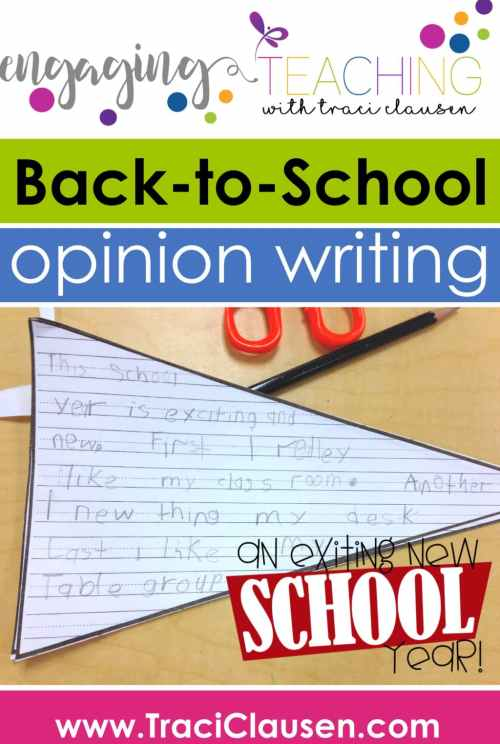 an Exciting School Year Writing Sample