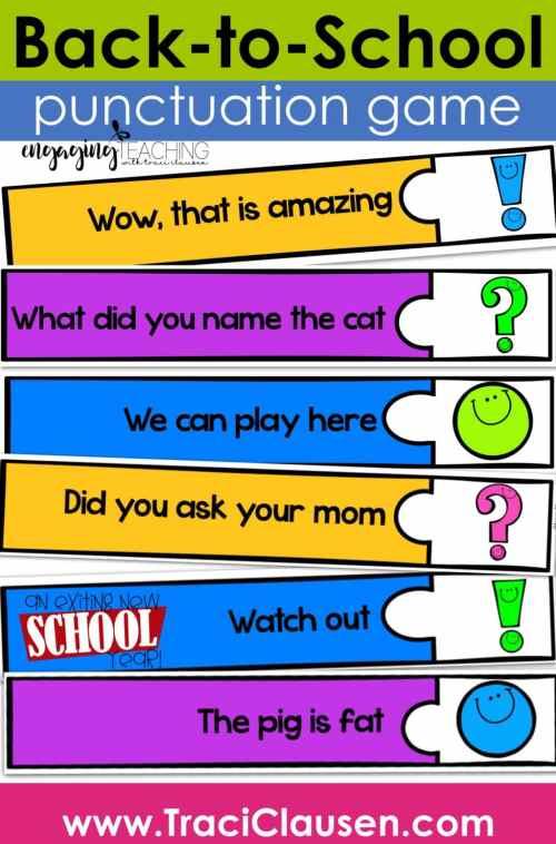 basic punctuation game
