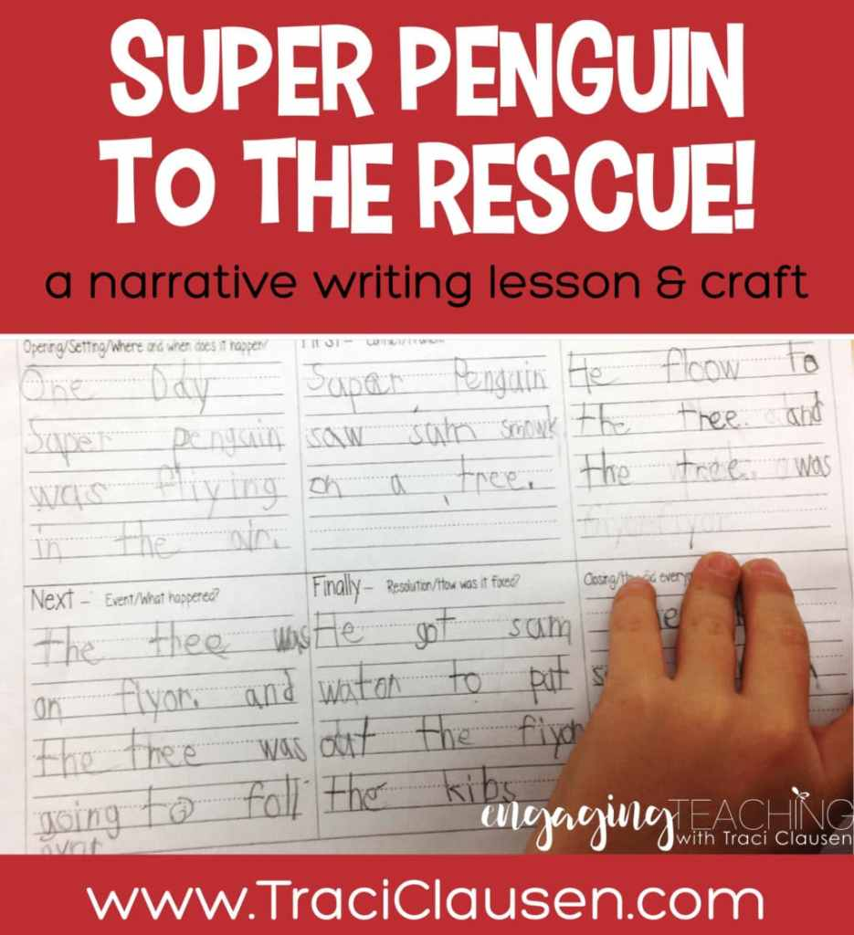 Student Sample of super penguin narrative plan