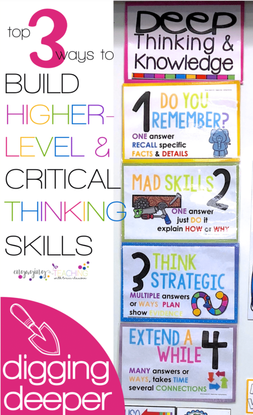 3 Ways to Build Higher Level Thinking