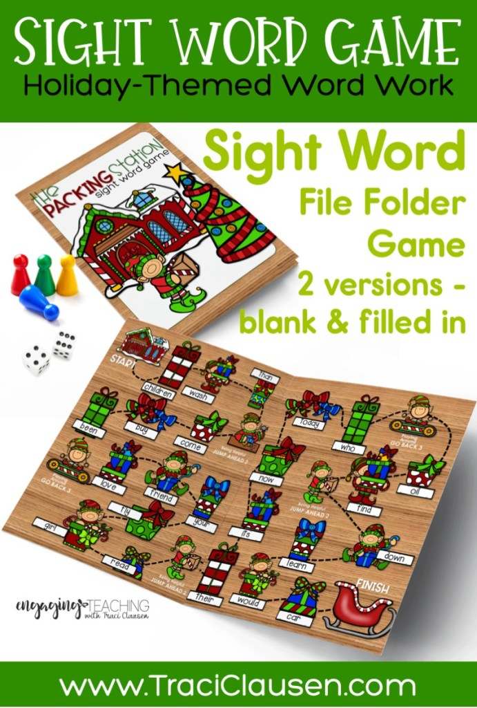 Sight Word Board Game - The Packing Station