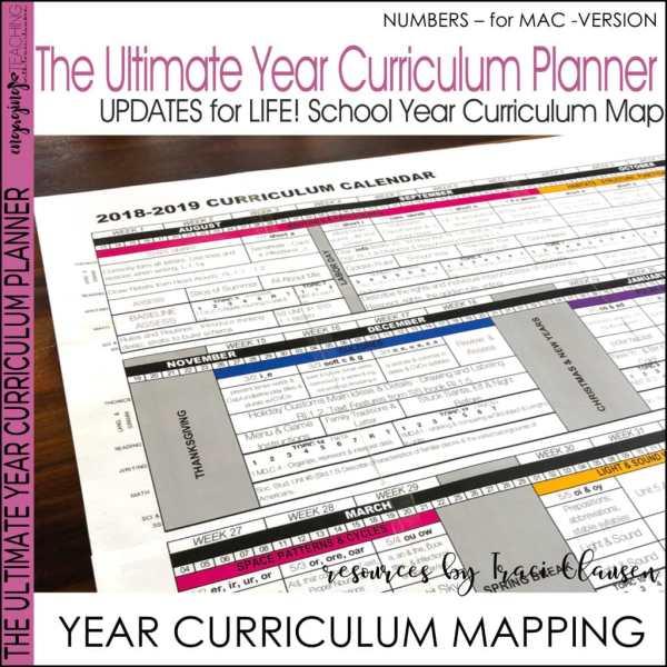 Year Planner Numbers Version