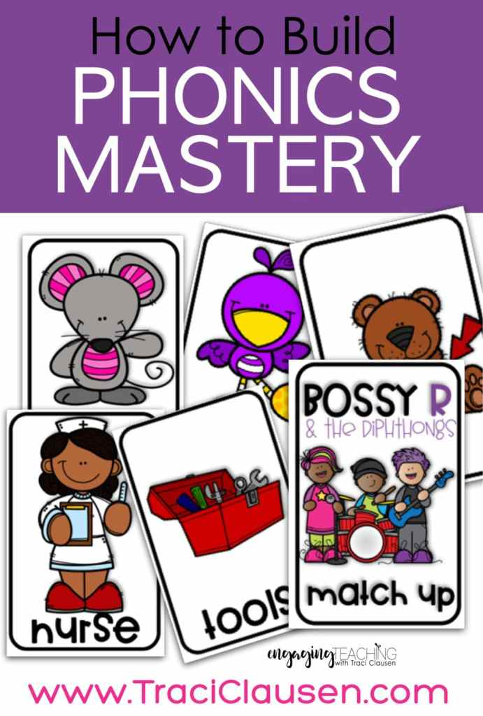 bossy r and diphthongs card game
