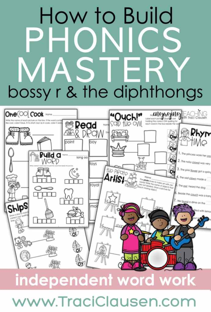 bossy r and the diphthongs activities