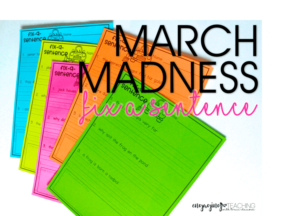 March Madness Fix-A-Sentence- March Resource Round Up - Traci Clausen