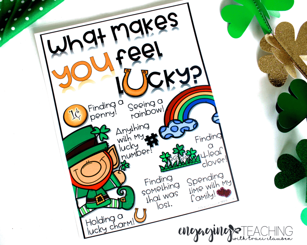 Feelin' Lucky Anchor Chart - March Resource Round Up - Traci Clausen