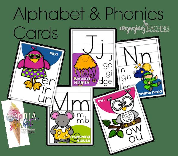 Alphabet & Phonics Cards - Vanilla Sherbet