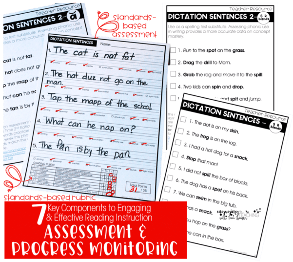7 Key Components for Effective and Engaging Reading Instruction and Building Successful Readers - progress monitoring and assessment
