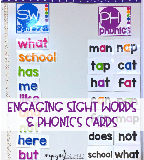 Sight Word and Phonics Cards
