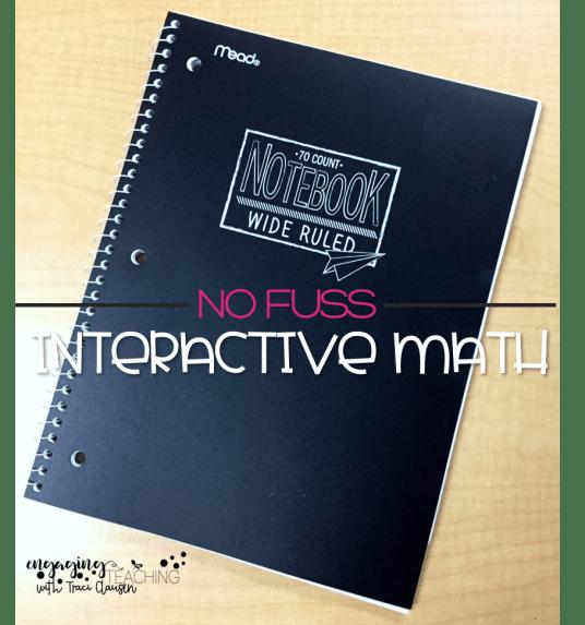 No Fuss math Sample Journal