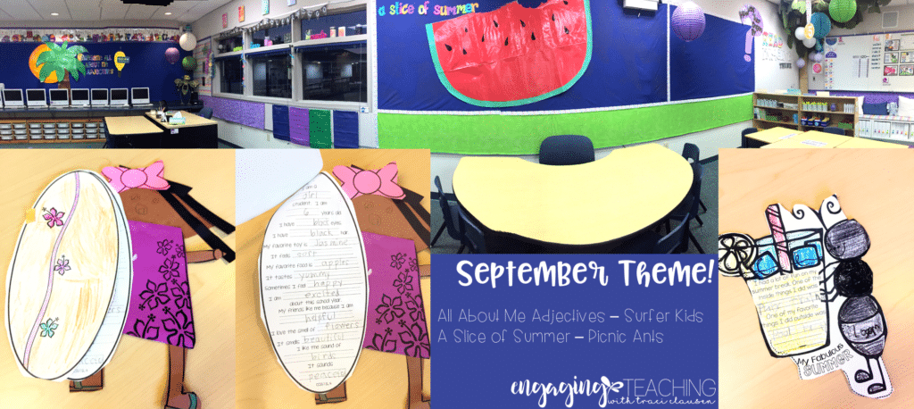 September Classroom Theme - All About Me, Summer Details. Engaging and Rich Social Studies and Science Content - TraciClausen.com