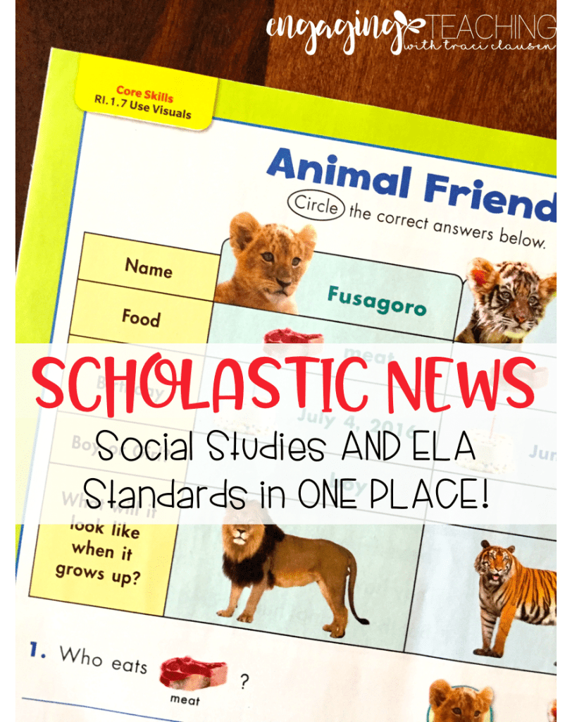Combing ELA and Social Studies Standards with Scholastic News. Engaging and Rich Social Studies and Science Content - TraciClausen.com