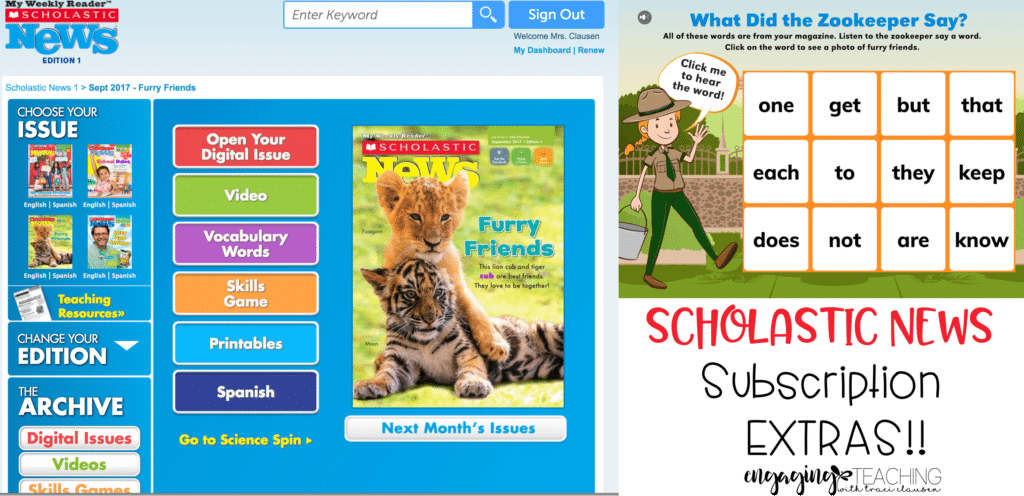 Scholastic News Subscription Extras. Engaging and Rich Social Studies and Science Content - TraciClausen.com
