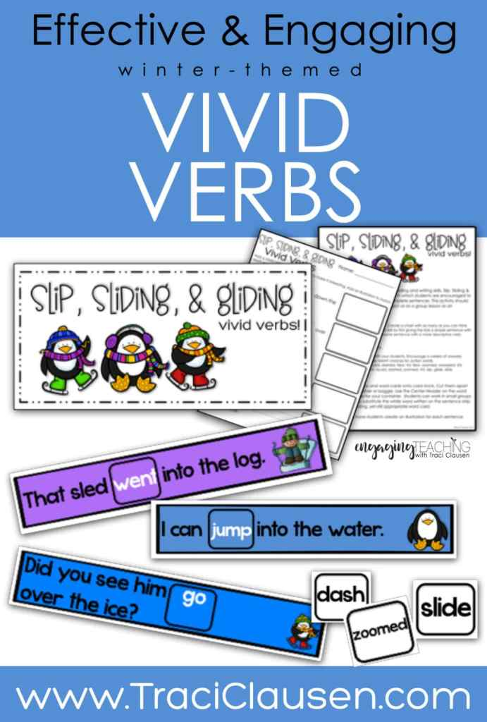 Vivid verbs games cards