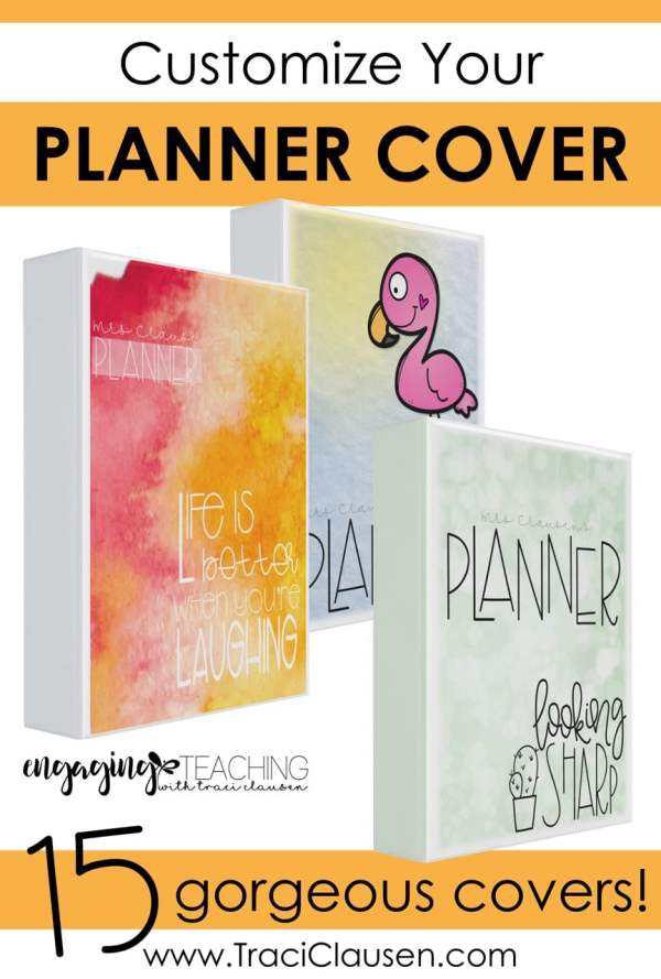 Custom Teacher Planner Covers