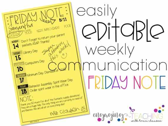 Friday Note