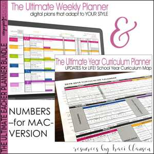 Numbers Weekly & Year Planner