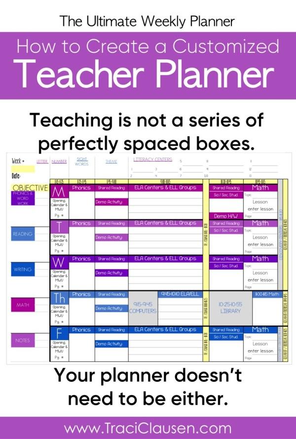 Personalized Teacher Planner