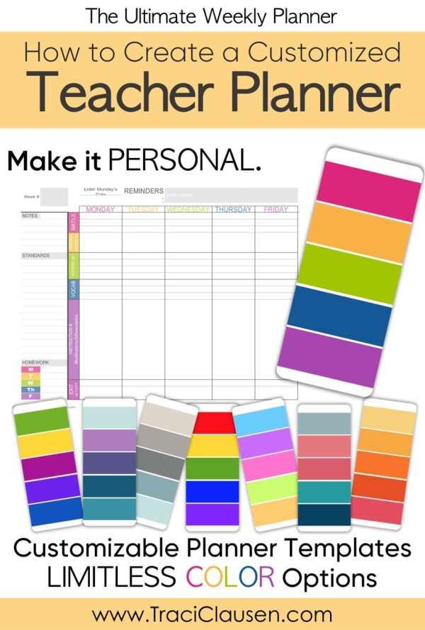 Teacher Planner Colors