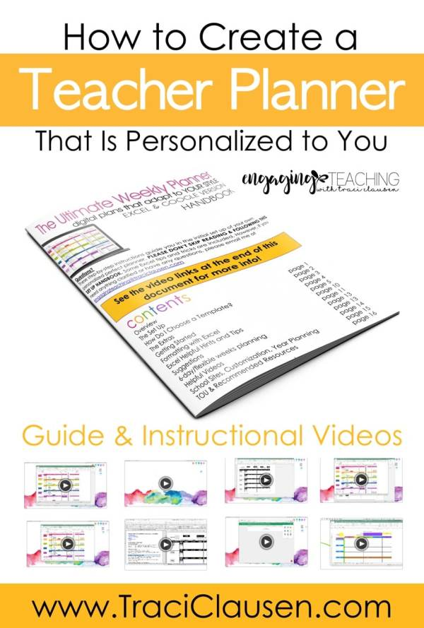 Guide and videos for the ultimate weekly teacher planner