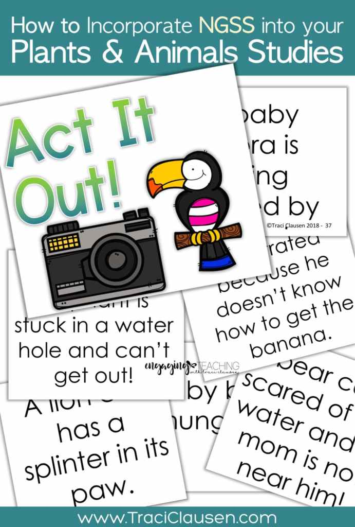 1st Grade Life Science NGSS Behavior & Responses Act It Out Cards