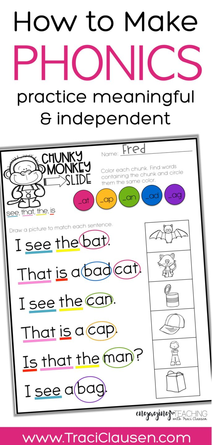 Phonics & Sight Word Practice with Chunky Monkey • Engaging Teaching