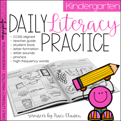 Daily Literacy Practice Resource Cover