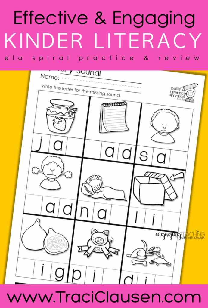 Daily Literacy Practice sound page