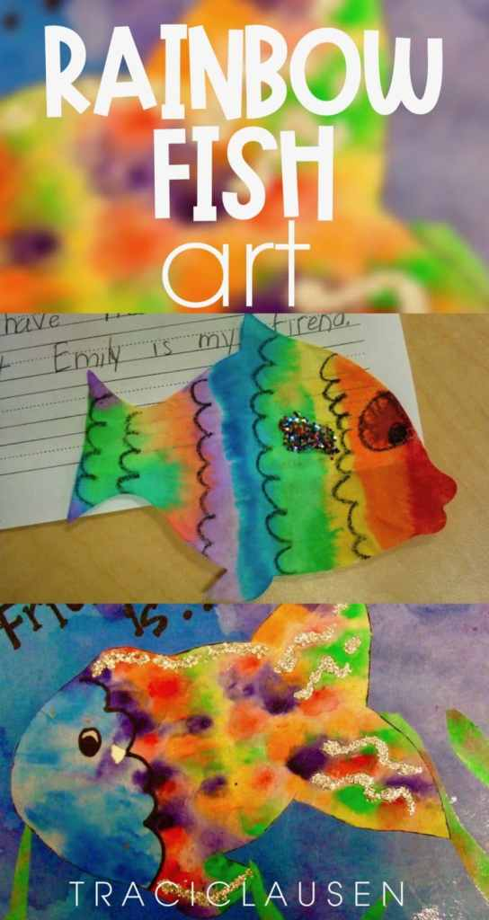 Rainbow Fish Art