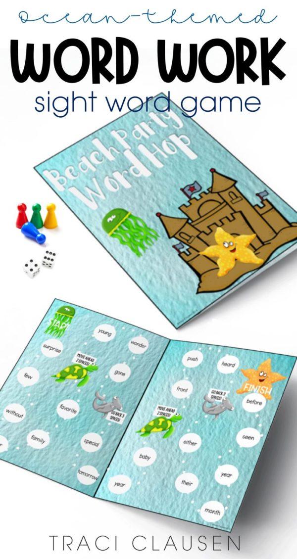 File folder sight word game.