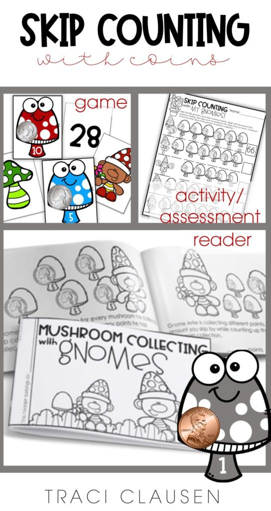 mushroom and coin, game cards assessment page and reader