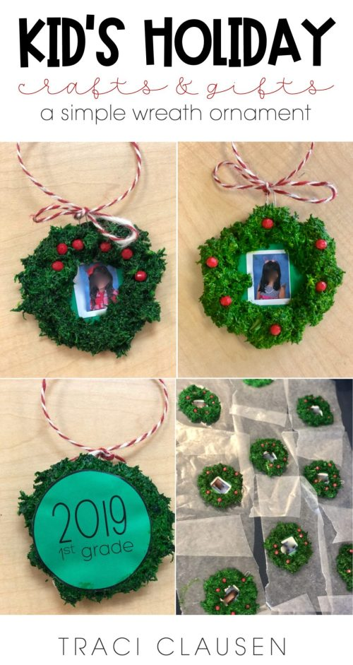 Holiday wreath craft