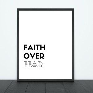 Faith Over Fear Print | Tracie Braylock