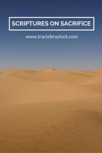 Scriptures on Sacrifice   Tracie Braylock