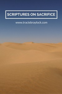 Scriptures on Sacrifice | Tracie Braylock