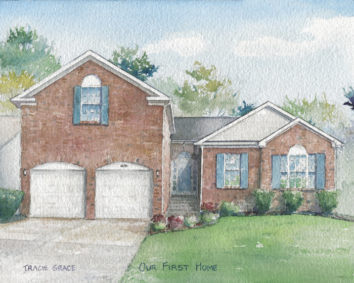 House Portrait – Our First Home