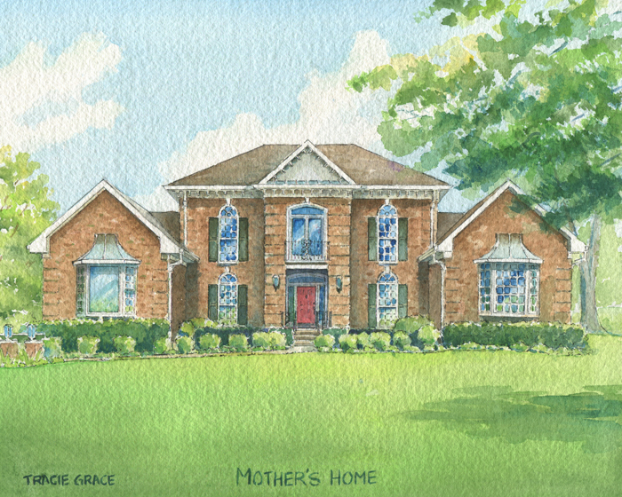 Watercolor House Portrait – Nashville
