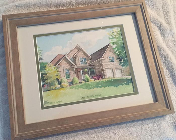 Framed House Portrait