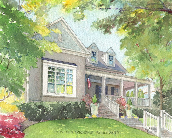 Nashville Watercolor Home