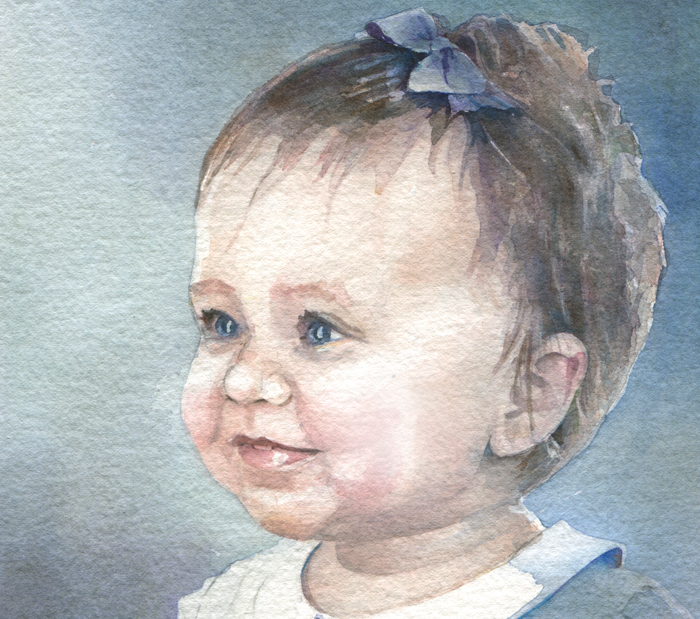 Watercolor Children's Portrait