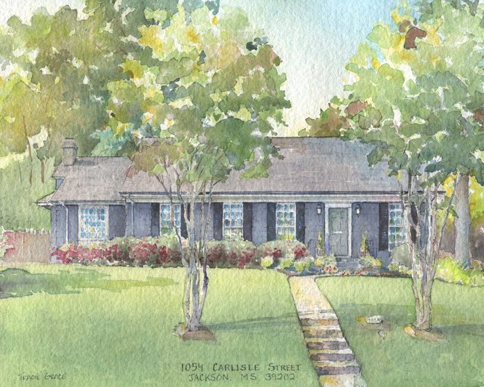 Mississippi House Portrait