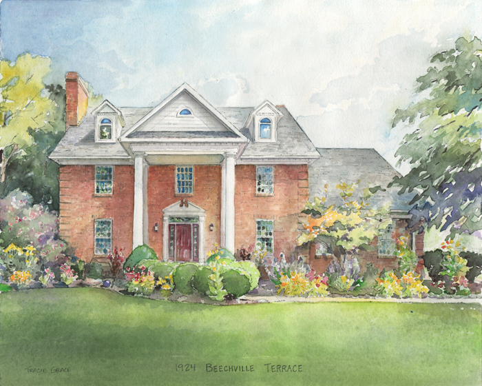 Tennessee Home Watercolor