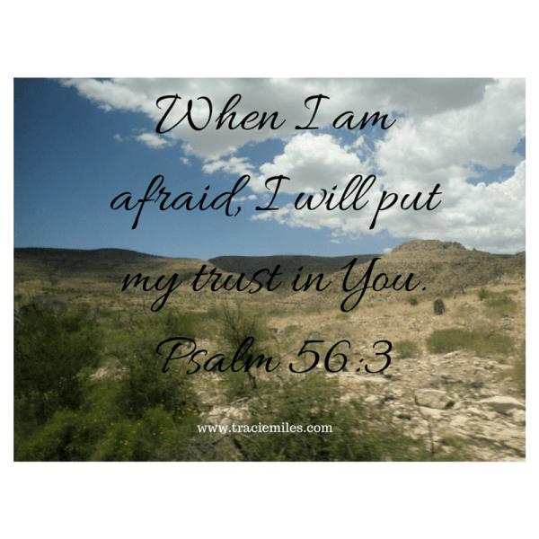 Psalm 56:3 Tracie Miles