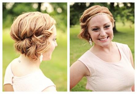 Making Beautiful Hair and Makeup Bridesmaid Updo